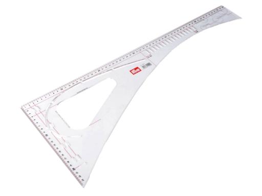 Kračírsky príložník / pravítko Prym dĺžka 60 cm Transparent 1ks