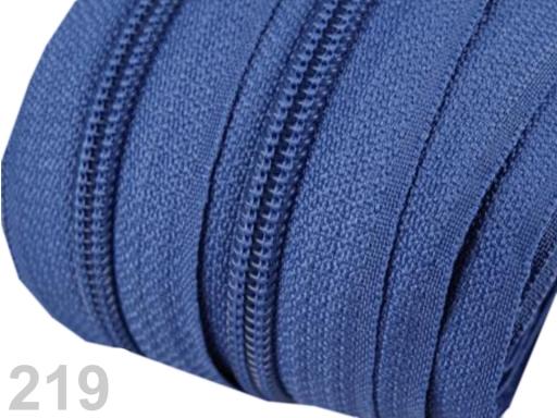 Zips špirálový 5mm metráž pre bežce typu POL Tile Blue 5m