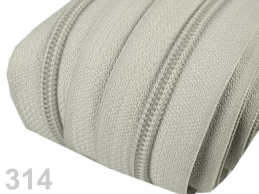 Zips špirálový 5mm metráž pre bežce typu POL Off White 5m