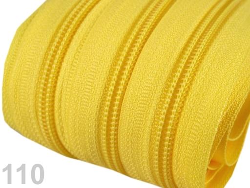 Zips špirálový 5mm metráž pre bežce typu POL Lemon 5m