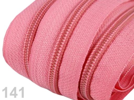 Zips špirálový 5mm metráž pre bežce typu POL Carmine Rose 5m