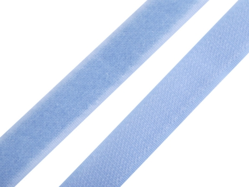 Suchý zips háčik + plyš šírka 20mm morský modrý Bachelor Button 25m