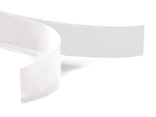 Suchý zips samolepiaci šírka 20mm biely plyš White 200m