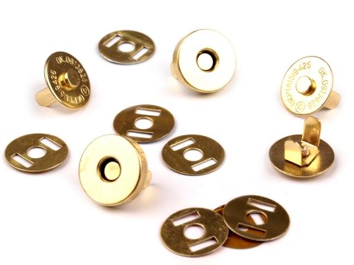 Zapínanie magnet Ø15 mm zlatá 5sada