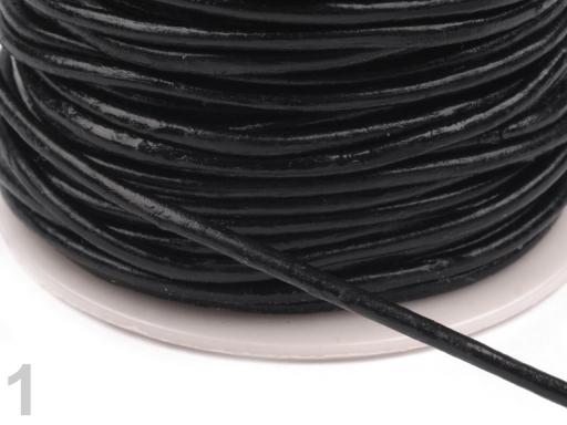 Šnúra Ø2 mm syntetická koža Black 25m