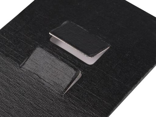 Karta na bižutériu s visačkou a sáčikom 40x220 mm Black 100sada