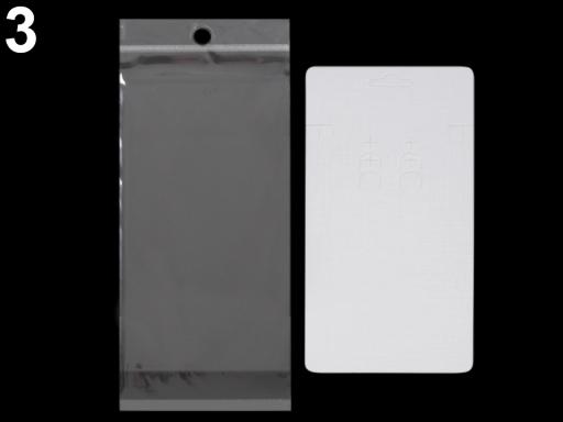 Karta na bižutériu s visačkou a sáčikom 83x193 mm Black 100sada