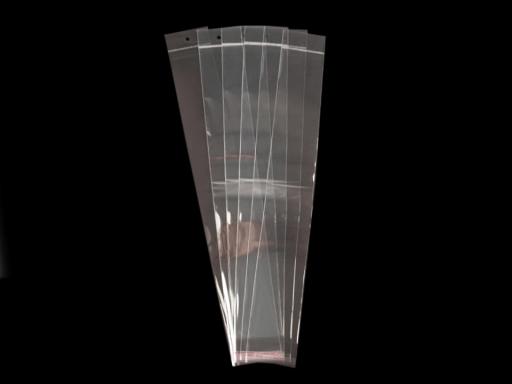 Celofánové sáčky s lepiacou lištou a závesom 7x45 cm Transparent 1000ks