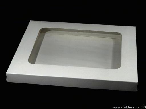 Krabica papierová s priehladom biela 1ks