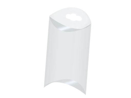 Plastová krabička na zavesenie 5x8,5 cm Transparent 50ks
