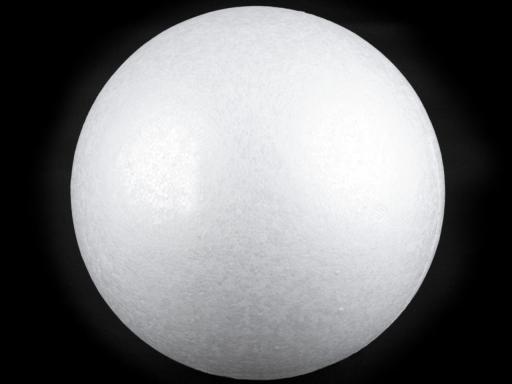 Guľa Ø 25 cm polystyrén biela 1ks