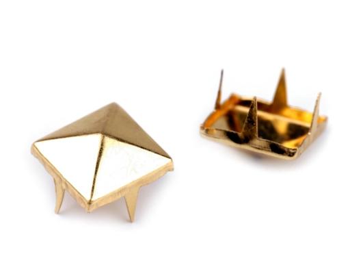 Cvočky na oblečenie 12x12mm pyramida nikel čierny 500ks