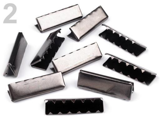 Koncovka kovová šírka 40 mm nikel čierny 10ks