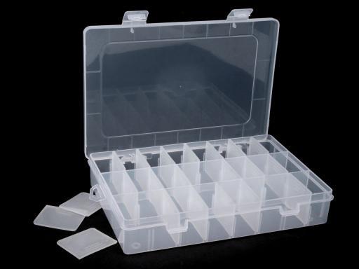Plastový box / zásobník 14x20x4 cm Transparent 1ks
