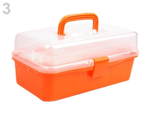 Plastový box / kufrík 20x33x15 cm rozkladací Transparent 1ks