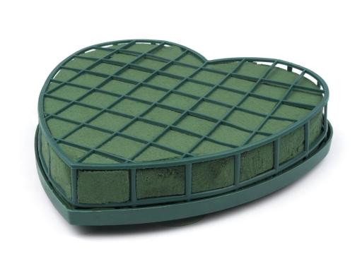 Aranžovacia hmota 4x19x19 cm v rámčeku s prísavkami zelená piniová 4ks