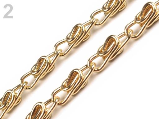 Retiazka na kabelku s karabínou dĺžka 90 cm zlatá 1ks