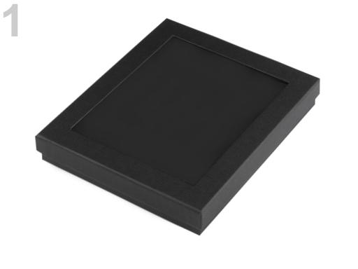 Krabička s priehladom polstrovaná 3x16x19 cm čierna 1ks