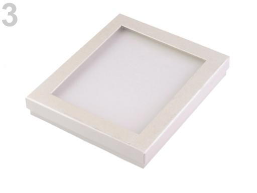 Krabička s priehladom polstrovaná 3x16x19 cm ecru 1ks