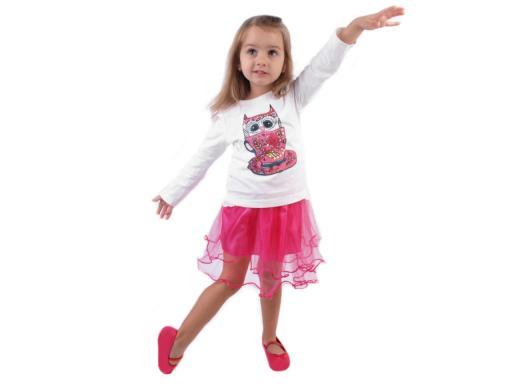 Karnevalová sukienka - detská obojstranná ružová sv. 1ks