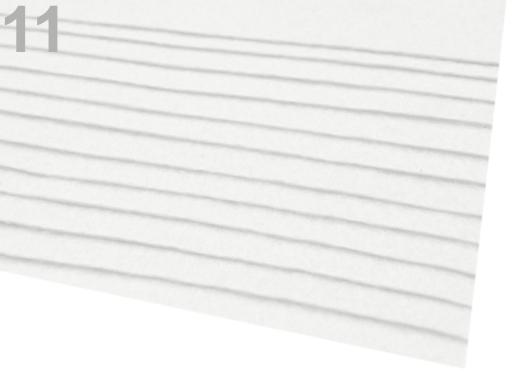 Látková dekoratívna plsť / filc 20x30 cm vanilka 12ks