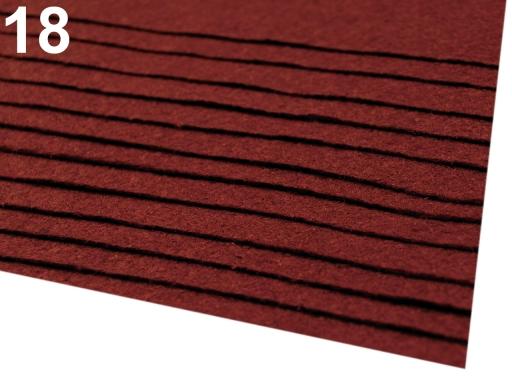 Látková dekoratívna plsť / filc 20x30 cm fialová sv. 12ks