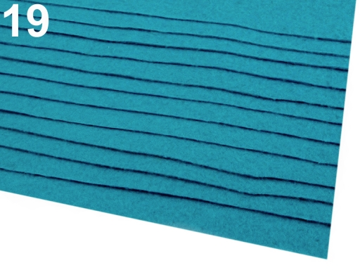 Látková dekoratívna plsť / filc 20x30 cm biela 12ks