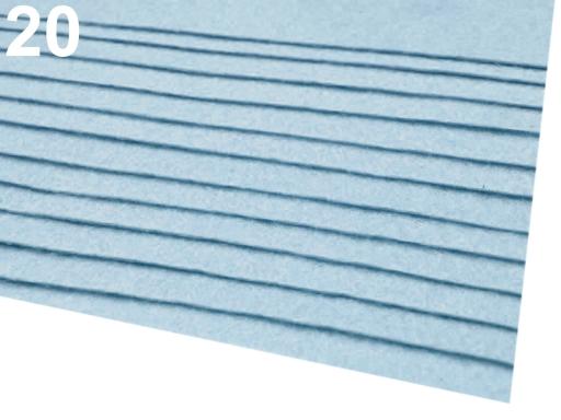Látková dekoratívna plsť / filc 20x30 cm hnedá srnčia 12ks