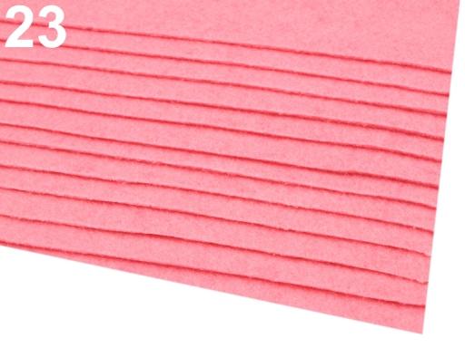 Látková dekoratívna plsť / filc 20x30 cm oranžová refexná 12ks