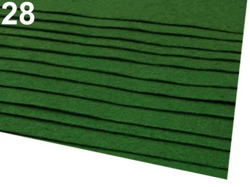 Látková dekoratívna plsť / filc 20x30 cm bordó 12ks