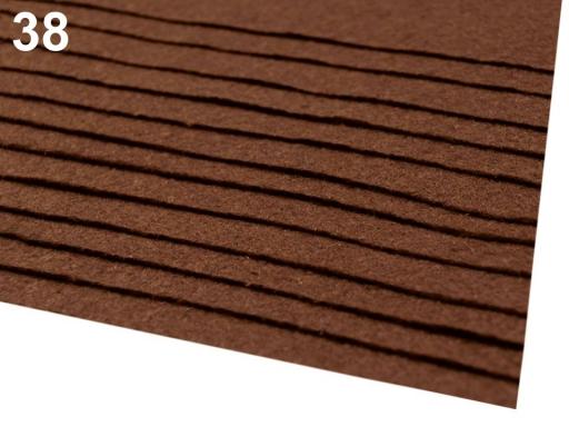 Látková dekoratívna plsť / filc 20x30 cm fialovoružová 2ks