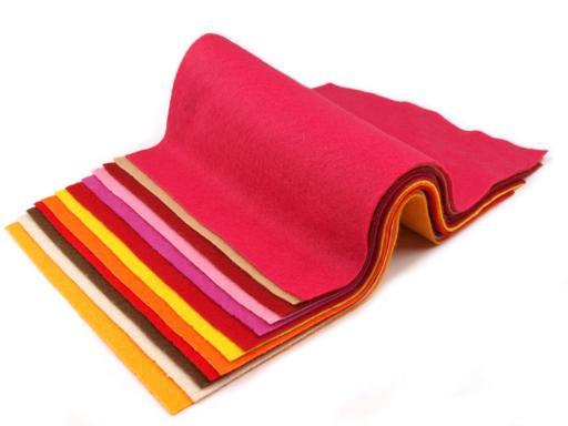 Látková dekoratívna plsť / filc 20x30 cm tyrkys 12ks