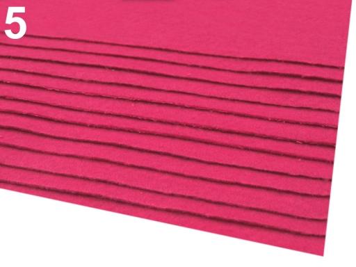 Látková dekoratívna plsť / filc 20x30 cm čierna 12ks