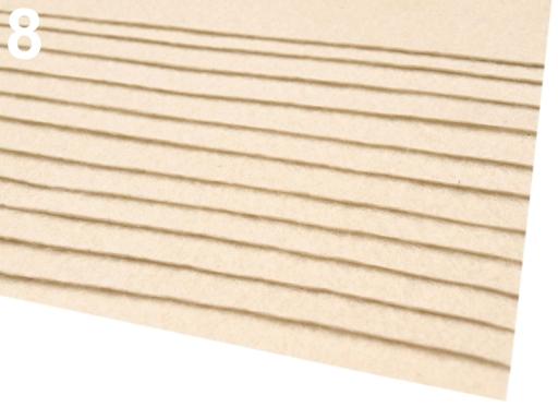 Látková dekoratívna plsť / filc 20x30 cm hnedá 12ks