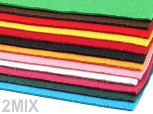 Látková dekoratívna plsť / filc 20x30 cm zelená pastelová 12ks