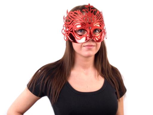 Karnevalová maska zelená trávová 1ks