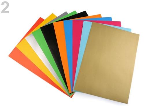 Papier farebný samolepiaci 21x29 cm mix farieb 1sada