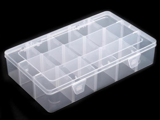 Plastový box / zásobník 16x27,5x5,5 cm Transparent 1ks