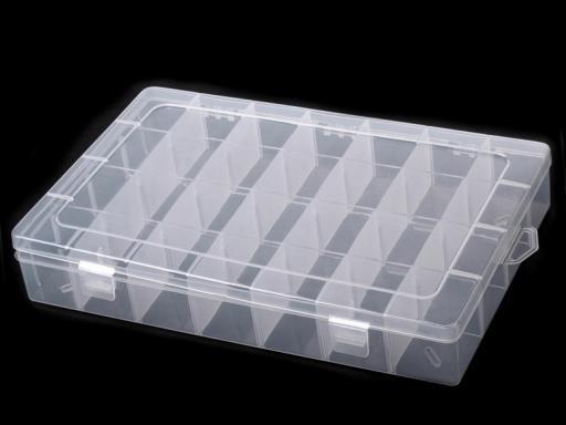 Plastový box / zásobník 21x34x5 cm