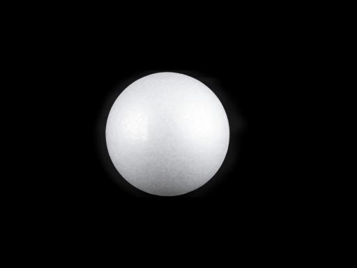 Guľa Ø3,7-4 cm polystyrén biela 100ks