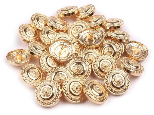 """Kovový gombík veľkosť 28"""" zlatý zlatá 10ks"""