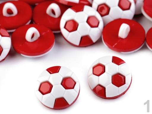"""Gombík detský veľkosť 24"""" futbalová lopta červená 144ks"""
