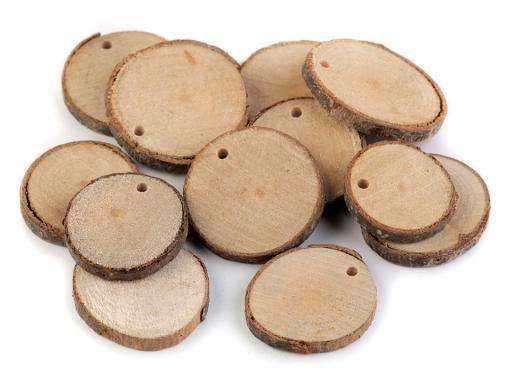 Prírodné drevené kolečko k domaľovaniu buk 5ks