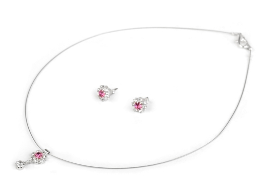 Náhrdelník a náušnice s brúsenými kamienkami - jablonecká bižutéria crystal  1sada 6e37c7e299b