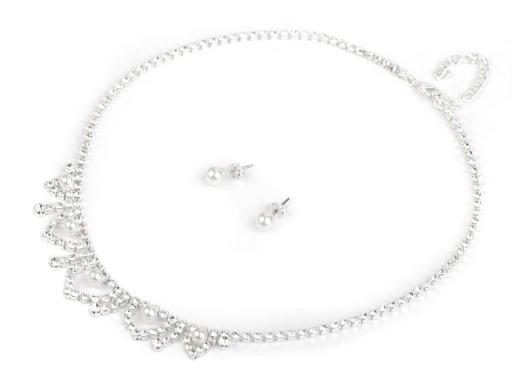 bcade665e Svadobná štrasová súprava s perlami - jablonecká bižutéria crystal 1sada