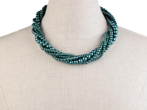 Perlový náhrdelník a náramok mliečna 1sada