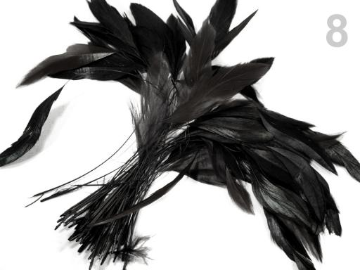 Kohútie perie dĺžka 13-18 cm kávová 50ks