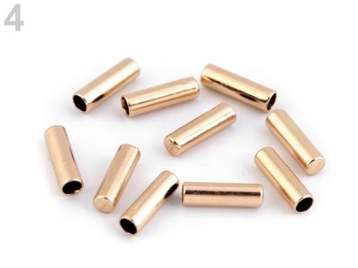 Kovová koncovka Ø4 mm zlatá 10ks