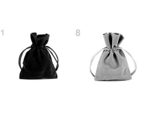 Darčekové vrecúško 8,5x11 cm zamatové bordó 10ks