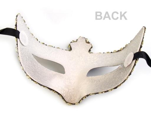 Karnevalová maska KAMILA zlatá 1ks